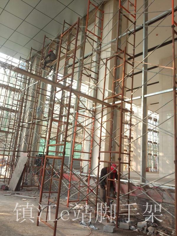 镇江绿地广场 幕墙装修脚手架搭建案例